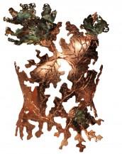 luxe luxury chic magazine pic picture shoot shooting fait main hand made paris france unique fashion week couture show artisanat craft art forever glam gabriel gabriel-d noble mode collection publication press shop fashion shop-online one of a kind bustier corset bikini top cuir leather strass rhinestones doré or gold golden chrome metal effect couture benoit mallory automne bustier face